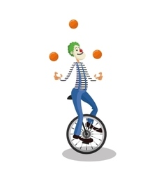 Clown of circus and carnival design vector