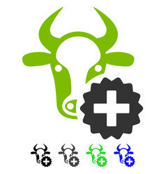 Cow create flat icon vector