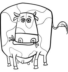 cow farm animal coloring page vector image