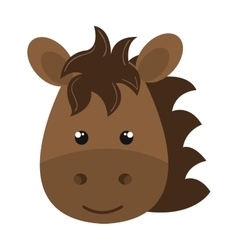 cute little horse animal character vector image