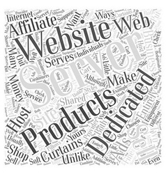 Dedicated server web host word cloud concept vector
