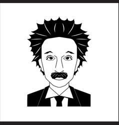 Famous scientist portrait vector