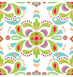 Floral damask seamless pattern background vector image vector image