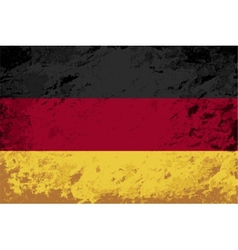 Germany flag Grunge background vector image vector image