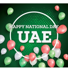 Happy national day uae vector