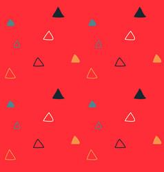 Kids triangular seamless pattern vector