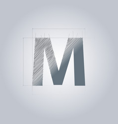 Letter m logo alphabet logotype architectural vector
