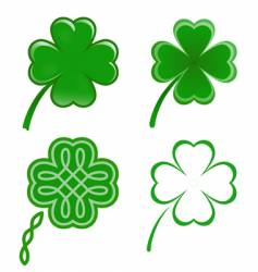 lucky clovers vector image vector image