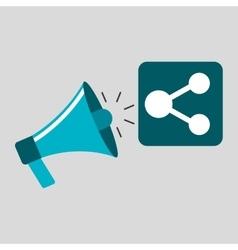 Marketing digital share concept vector
