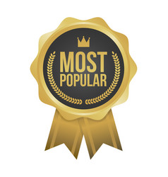 most popular gold sign round label vector image