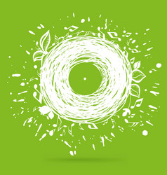 Music of nature green sketch concept vector