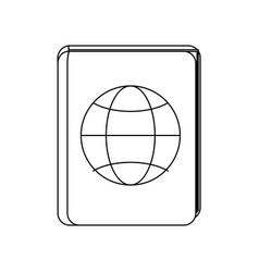 Passport document icon vector