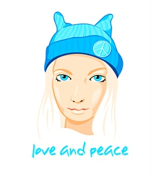 Peace girl vector image vector image