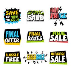 sale super big collection label discount vector image