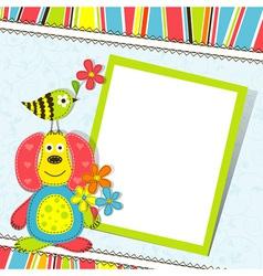 Scrapbook greeting card border vector