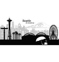 Seattle Washington skyline vector image