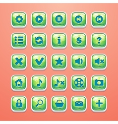 Set of buttons for glamorous game interface and vector image vector image