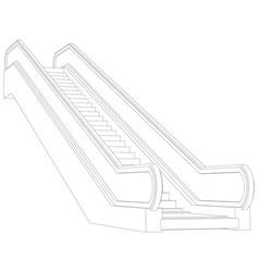 Sketch of escalator vector