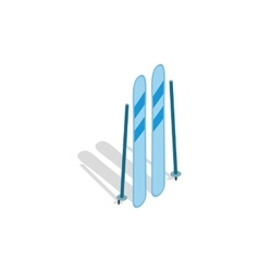Ski equipment icon isometric 3d style vector image vector image