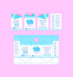 Stock design of boxes for milk vector