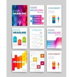 Templates design set of web mail brochures vector