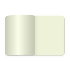 top view notepad template realistic blank vector image
