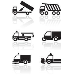 Truck van symbol set vector