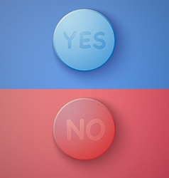 Web infographic ok cancel yes no colorful buttons vector