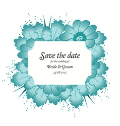 Wedding invitation cards with flowers vector