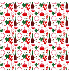 wine semless pattern vector image vector image