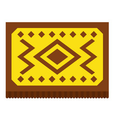 Yellow turkish carpet icon isolated vector