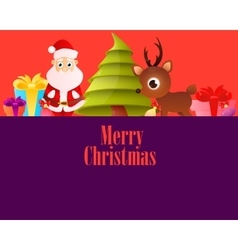Lilac poster merry christmas vector