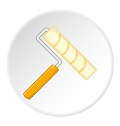 Paint roller icon cartoon style vector