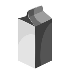 Packaging for milk icon gray monochrome style vector