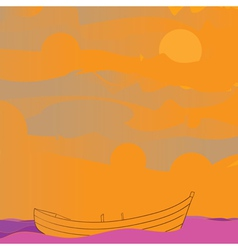 Boat and sky vector