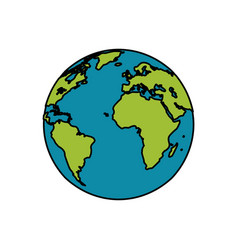 earth planet world image vector image