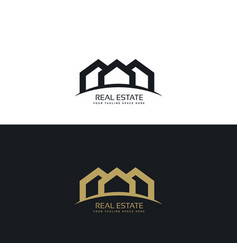 Creative minimal real estate logo design concept vector