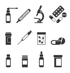 A set of medical icons vector