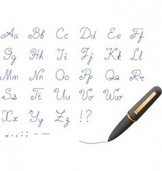 ballpoint pen font vector image