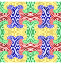 Design seamless colorful whirl movement pattern vector