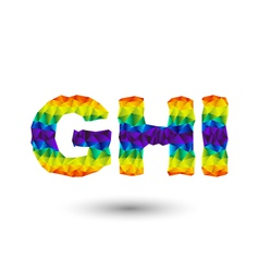 triangular letters ghi vector image