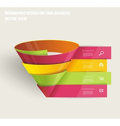 Modern spiral infographics options banner vector