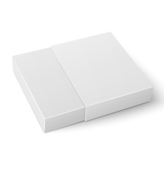 White sliding cardboard box template vector
