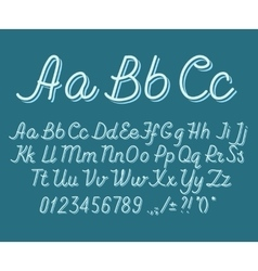 Hand drawin alphabet handwritting abc font vector image