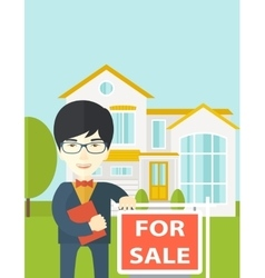 Real estate agent vector