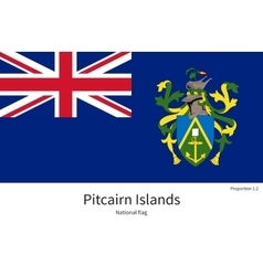 National flag of pitcairn islands with correct vector