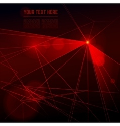 Red laser light on dark background vector