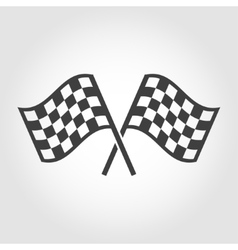 Checkered flags icons set vector