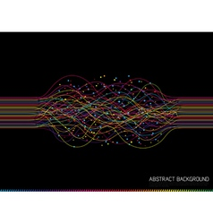abstract colorful lines vector image vector image