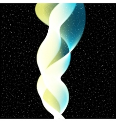 Abstract Wave on stars background vector image vector image